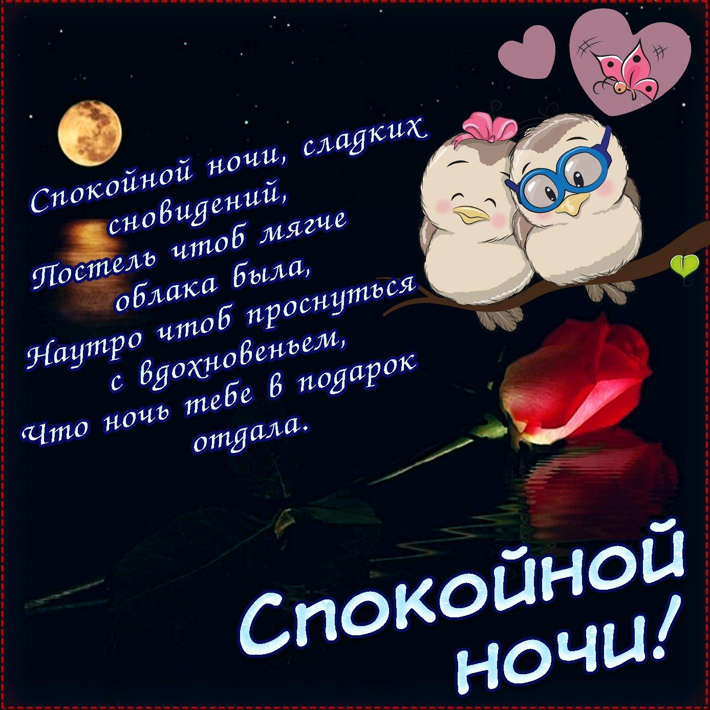 старший пожелание сладкой ночи любимому днем поцелуев картинка
